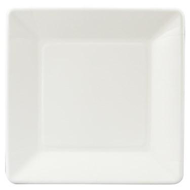 Bright White (White) Square Dinner Plates