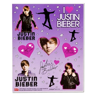 Justin Bieber Sticker Sheets