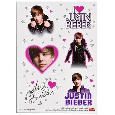 Justin Bieber Tattoo Sheets