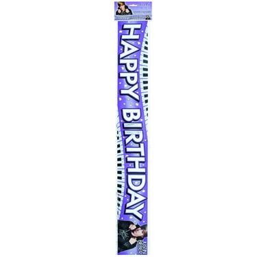 12' Justin Bieber Foil Banner
