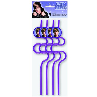 Justin Bieber Squiggle Straws
