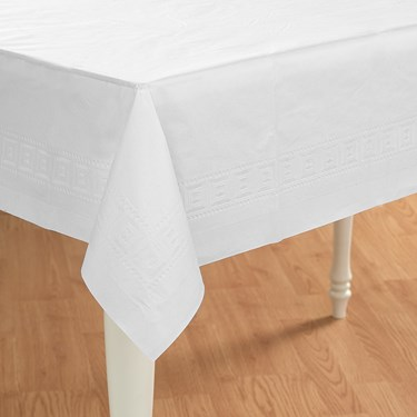 Bright White (White) Paper Tablecover