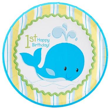 Whale of Fun 1st Birthday Dinner Plates