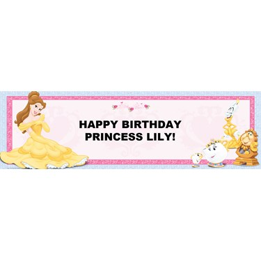 Disney Beauty and the Beast Personalized Banner