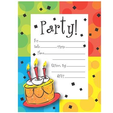 Cake Celebration Invitation Postcards
