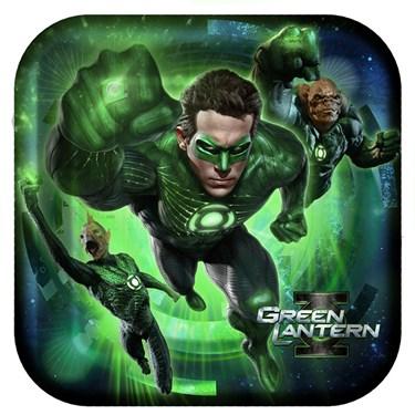 Green Lantern Square Dinner Plates