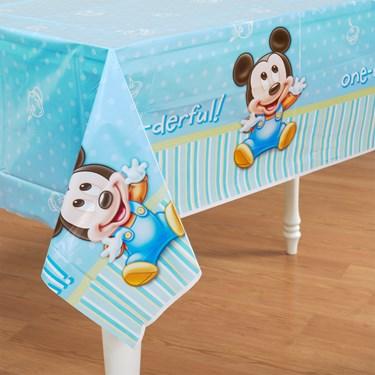 Disney Mickey's 1st Birthday Plastic Tablecover