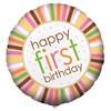 Sweet Safari Pink 1st Birthday Foil Balloon