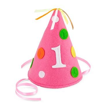 Pink Polka Dot #1 Felt Hat