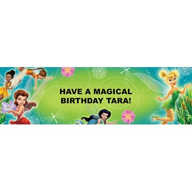 Disney Fairies Personalized Birthday Banner