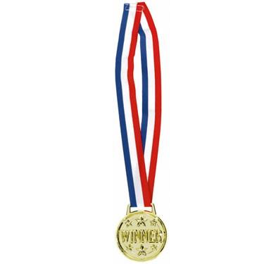 """Jumbo """"Winner"""" Award Medal Necklace"""