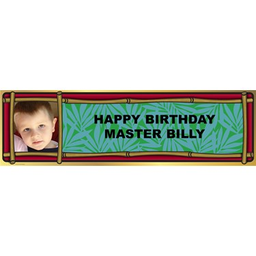 Bamboo Personalized Photo Banner