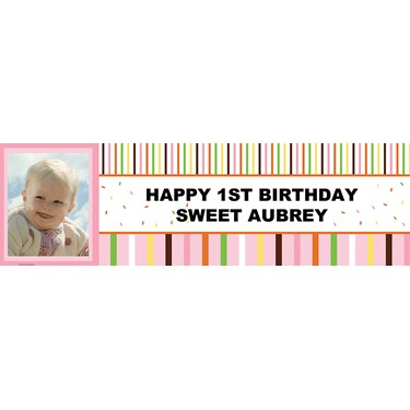 Pink Safari Personalized Photo Banner