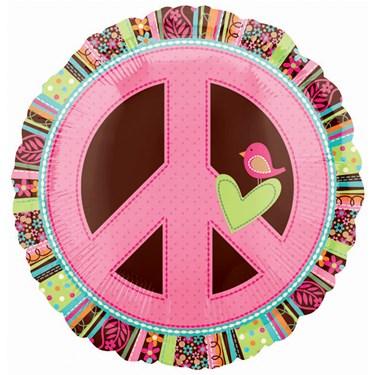 Peace Sign Foil Balloon