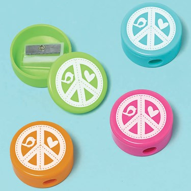 Hippie Chick Pencil Sharpeners Assorted