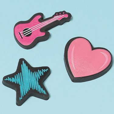 Rocker Princess Erasers Assorted