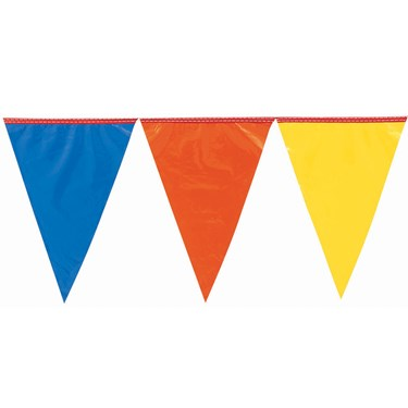 Primary Color Large Outdoor Pennant Banner