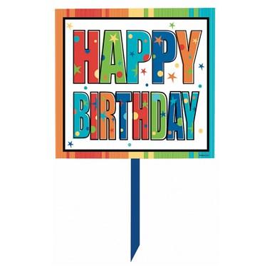 Happy Birthday Lawn Sign