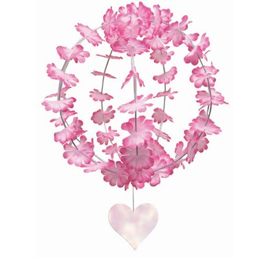 Pink Fabric Flower Globe