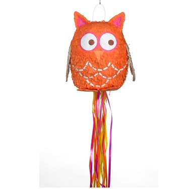 Hippie Owl Pull-String Pinata