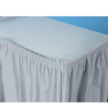 Shimmering Silver (Silver) Plastic Table Skirt