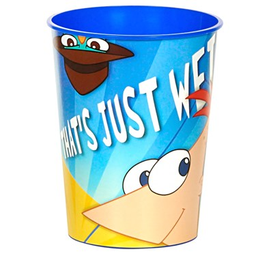 Disney Phineas and Ferb 16 oz. Hard Plastic Cups