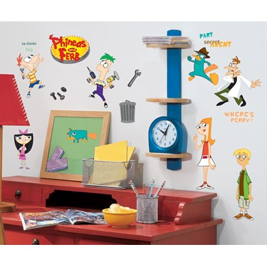 Disney Phineas and Ferb Removable Wall Decorations