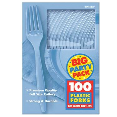 Pastel Blue Big Party Pack - Forks