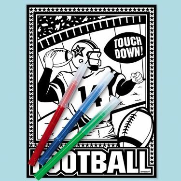Football Coloring Kit