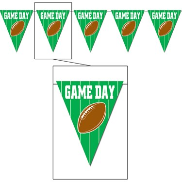 Game Day Football - Pennant Banner