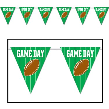 Game Day Football - Giant Pennant Banner