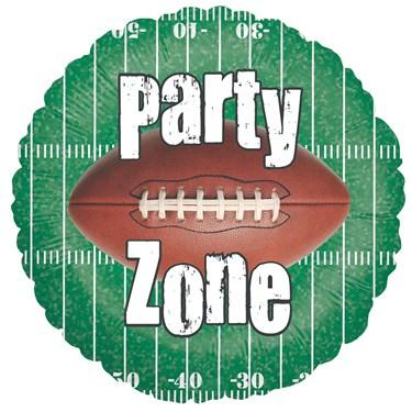 Party Zone Football Foil Balloon