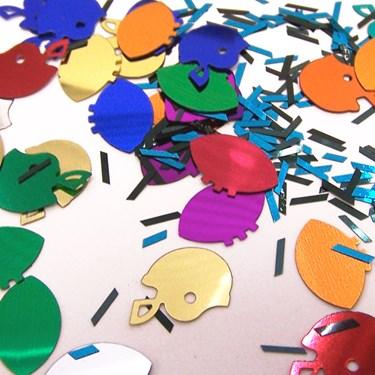 Football Multi Shaped End Zone Confetti