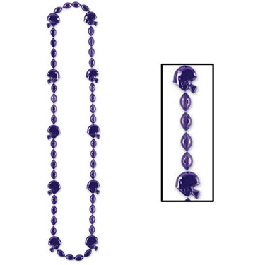 Purple Football Beads Necklace