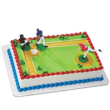 Baseball Player Cake Decorations