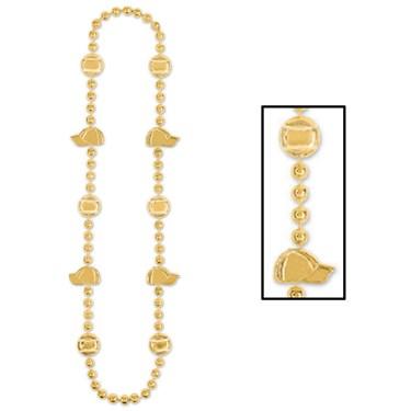 Baseball Beads - Gold