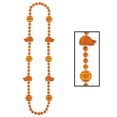 Baseball Beads - Orange