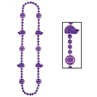 Baseball Beads - Purple
