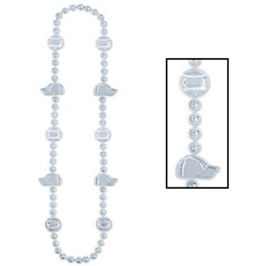 Baseball Beads - Silver