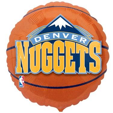 Denver Nuggets Basketball Foil Balloon