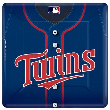 Minnesota Twins Baseball Square Banquet Dinner Plates