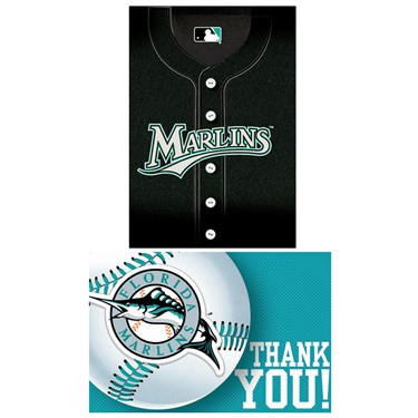 Florida Marlins Baseball - Invite & Thank-You Combo