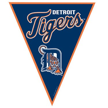 Detroit Tigers Baseball Pennant Banner