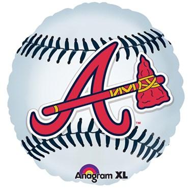 Atlanta Braves Baseball Foil Balloon