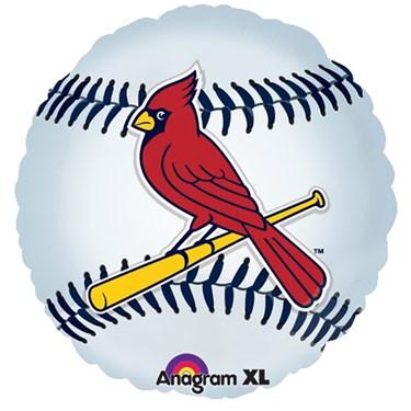 St. Louis Cardinals Baseball Foil Balloon