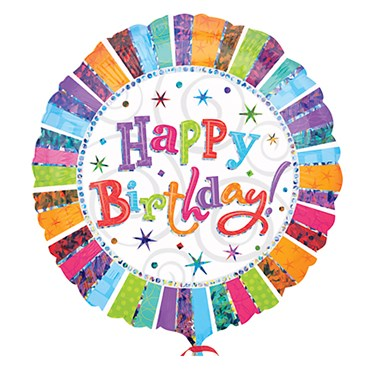 Radiant Birthday Primatic Foil Balloon