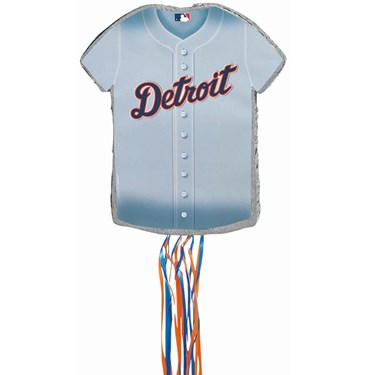 Detroit Tigers Baseball - Shirt Shaped Pull-String Pinata