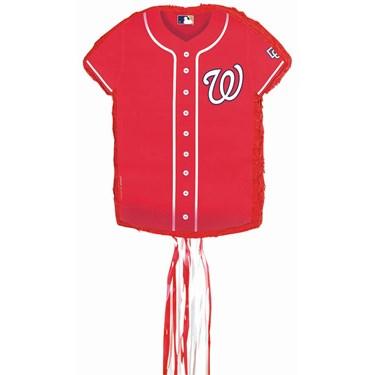 Washington Nationals Baseball - Shirt Shaped Pull-String Pinata