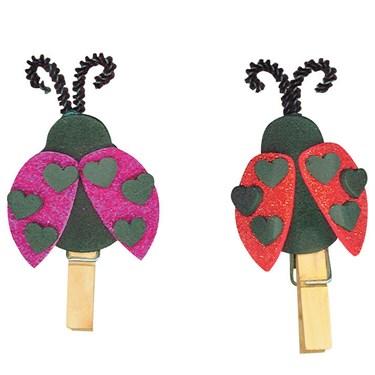 Ladybug Clothespin Magnets Kit