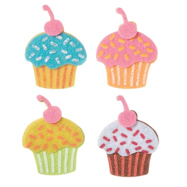 Glitter Cupcakes Stickers